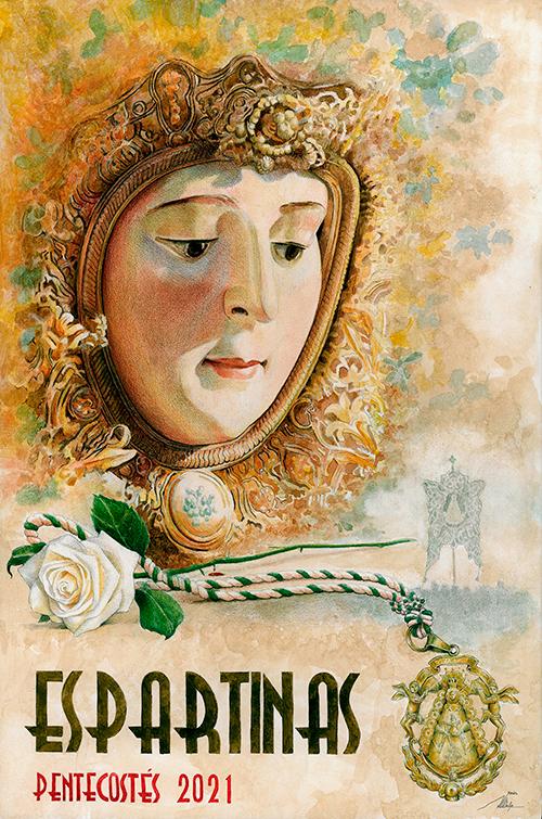 Cartel Pentecostes 2021 Hermandad Rocio Espartinas por Javier Jimenez Sanchez-Dalp