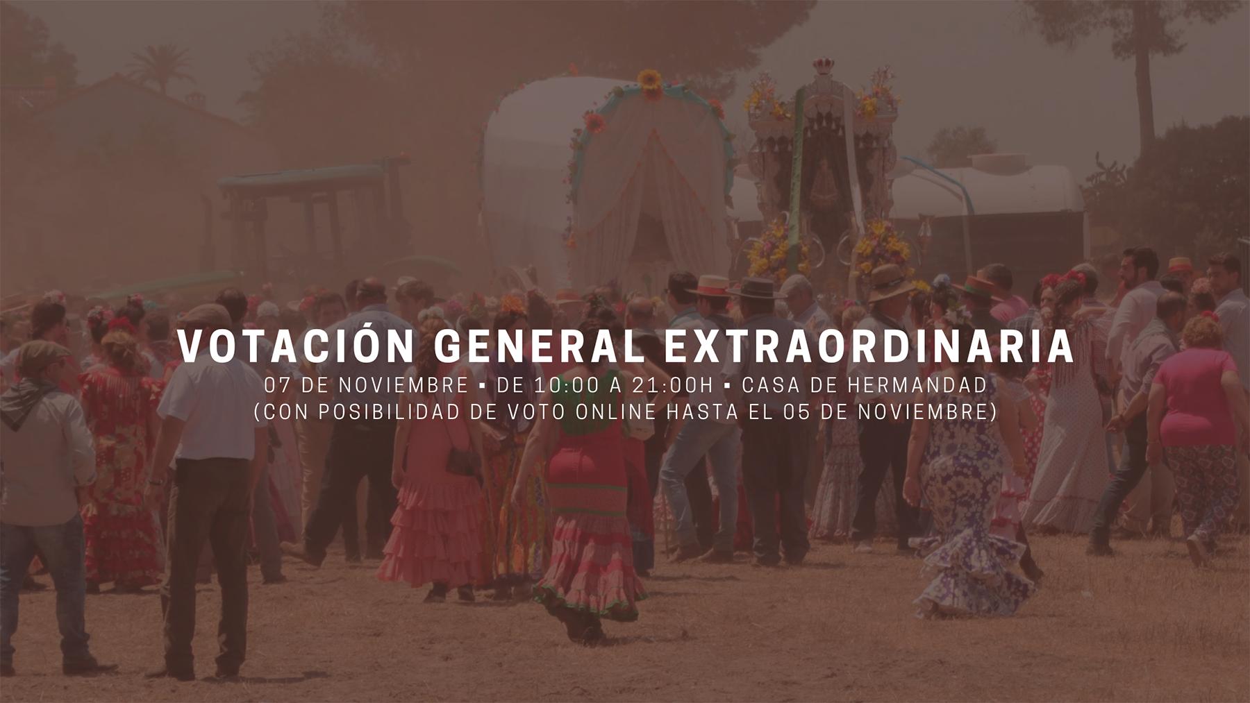 Votacion General Extraordinaria noviembre 2020